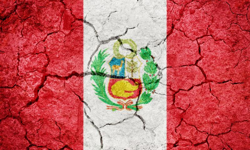 Republic of Peru flag royalty free stock images
