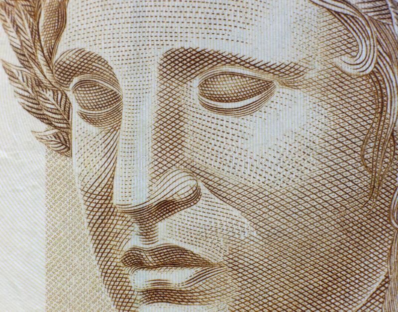 Republic's Effigy. Portrayed as a bust on Brazilian Real royalty free stock photos