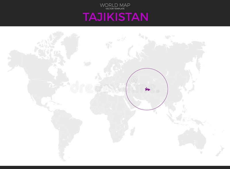 Republic Of Tajikistan Location Map Stock Vector Illustration of