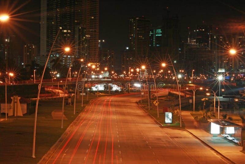 Republica Panama della via di notte immagini stock libere da diritti