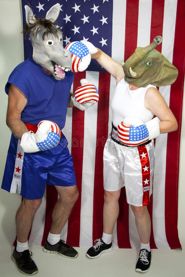 Download Republican Beating Up On A Democrat Editorial Stock Image - Image: 26513084