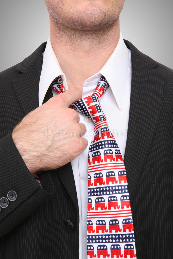 Republican Business Man. A Republican GOP senator or congress man with symbolic tie stock photography