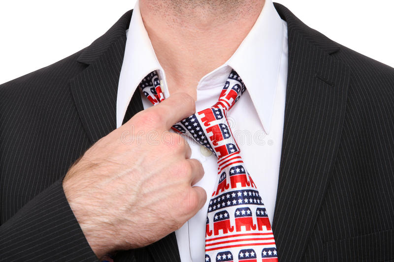Republican Business Man. A Republican GOP senator or congress man with symbolic tie stock images