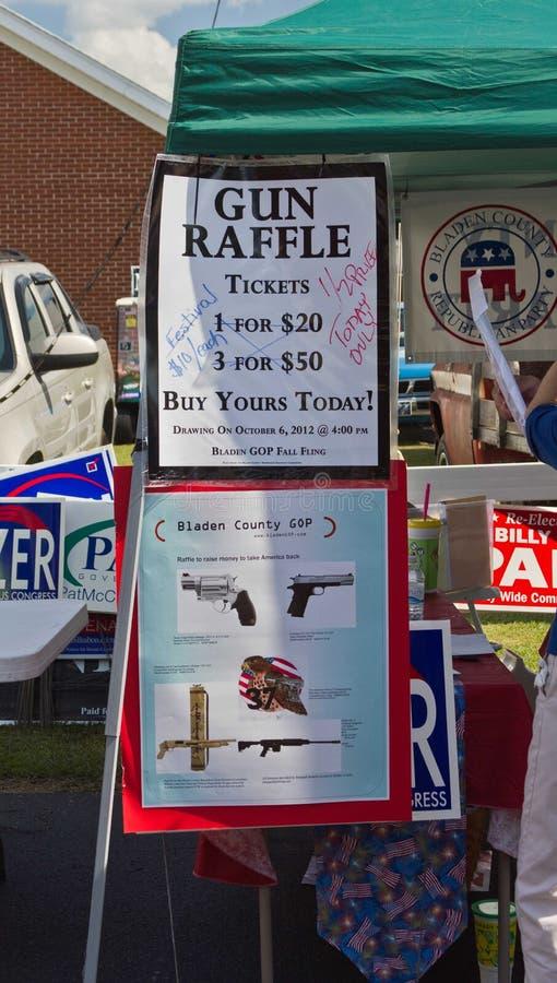 Republican/GOP Gun Raffle. Republican/GOP fund raising activity in North Carolina stock photo