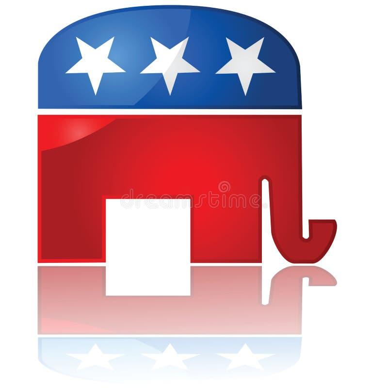 Republican Party icon vector illustration
