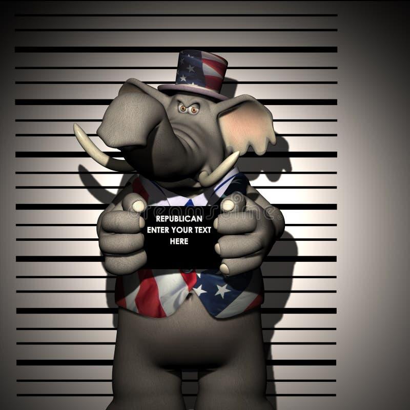 Republicano - arrestado stock de ilustración