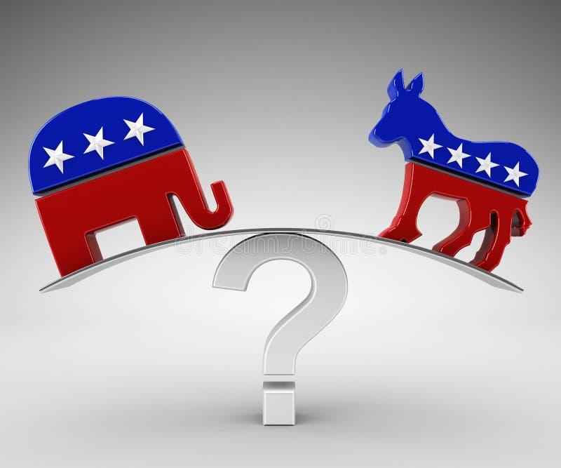 Republicano ou democrata do voto ilustração do vetor