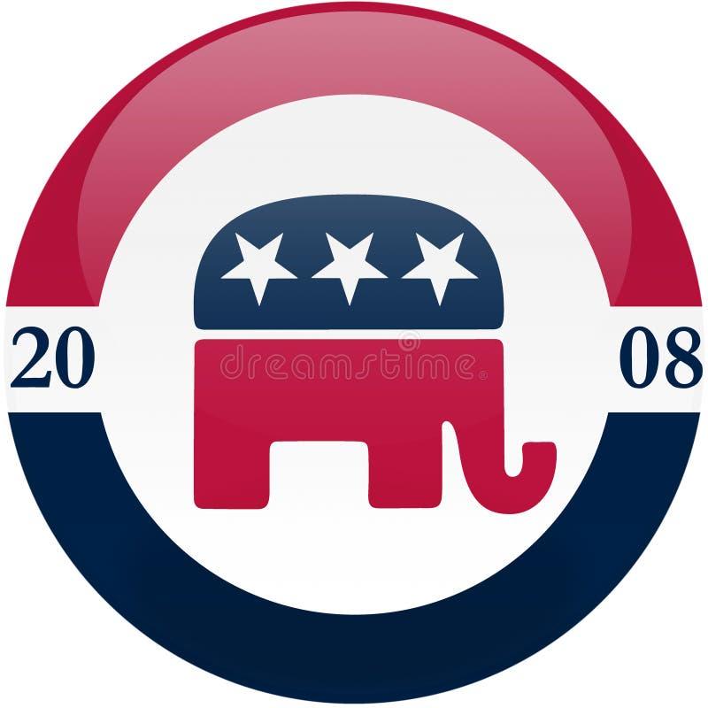 Republicanos en 2008 ilustración del vector