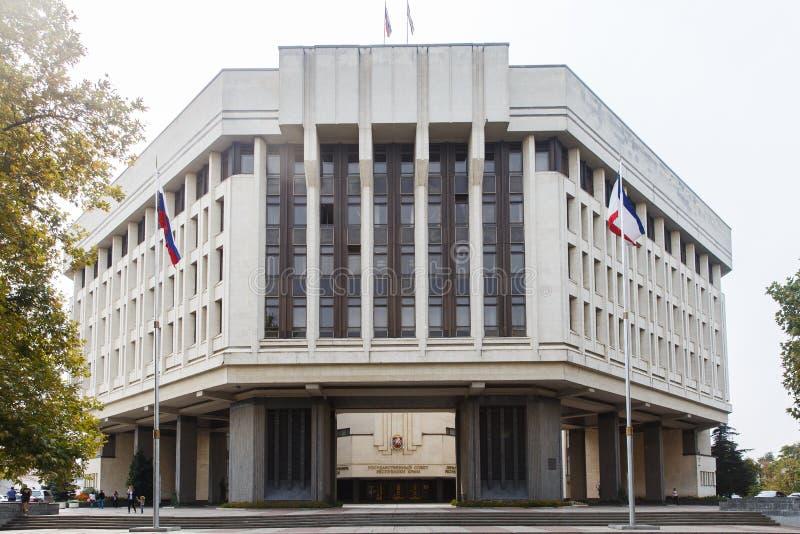 Republiek de Krim Het Parlement de huizen van de staat Simferopol stock afbeeldingen