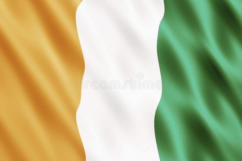 Republiek van de Vlag van de Kooi dIvoire stock illustratie