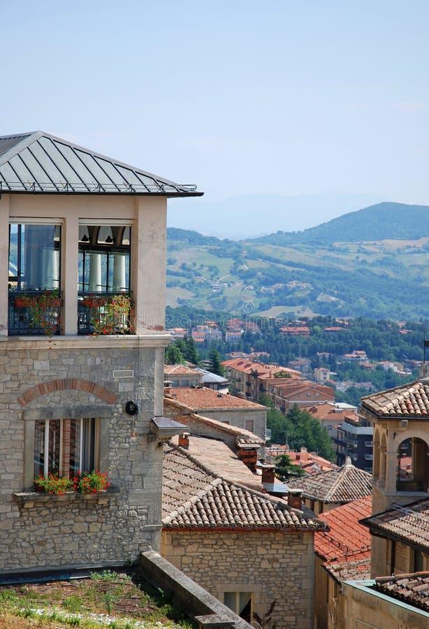 Republiek van San Marino, Italië royalty-vrije stock foto
