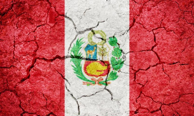 Republik av den Peru flaggan royaltyfria bilder