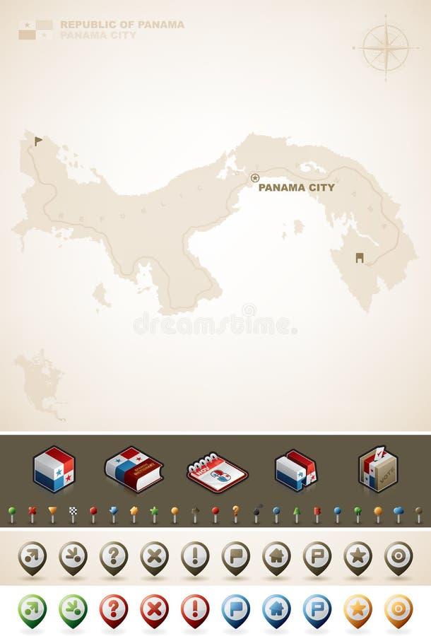 Republik av Panama royaltyfri illustrationer