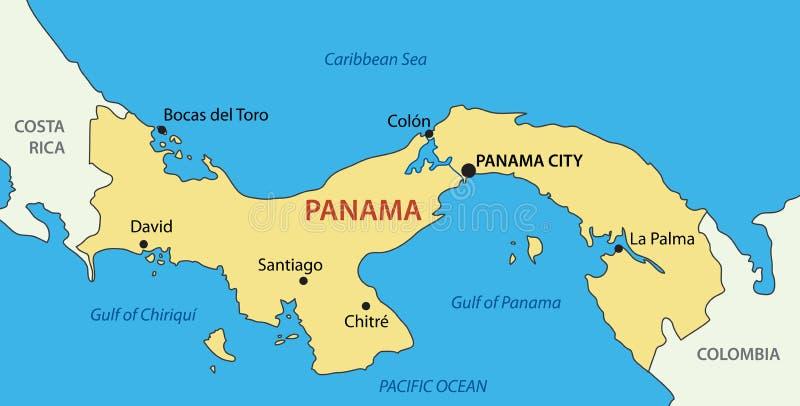 Republik av Panama - vektoröversikt royaltyfri illustrationer