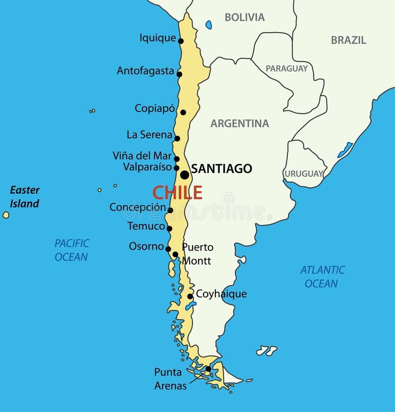 Republik Chile - Karte stock abbildung