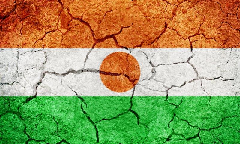 Republik der Niger-Flagge stockfotos