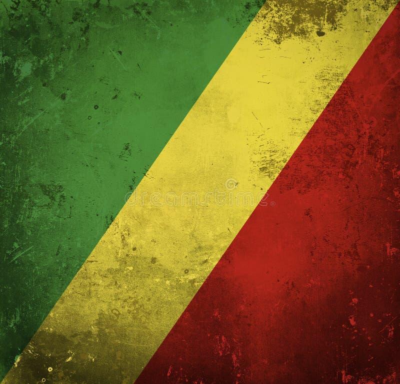republik f?r congo flaggagrunge royaltyfria bilder