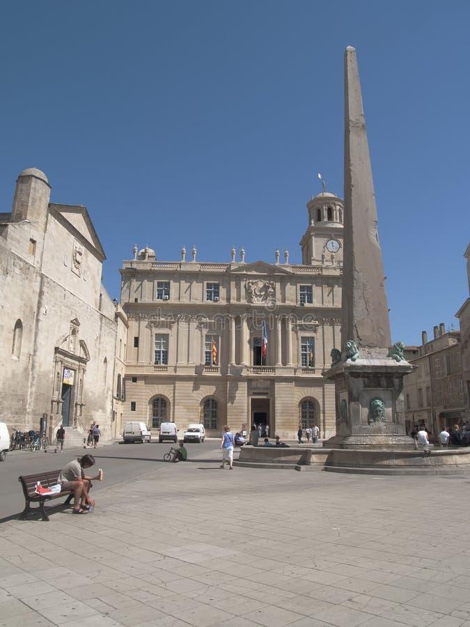 Republik-Quadrat in Arles stockbild
