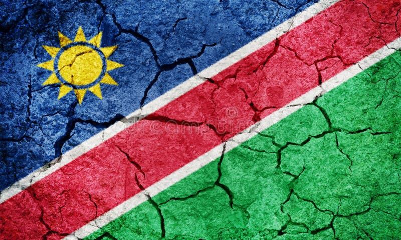 Republik von Namibia-Flagge lizenzfreie abbildung