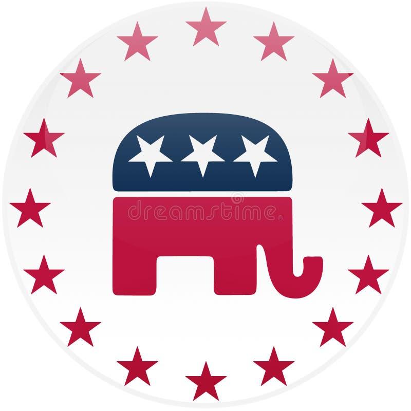 republikański biały przycisk