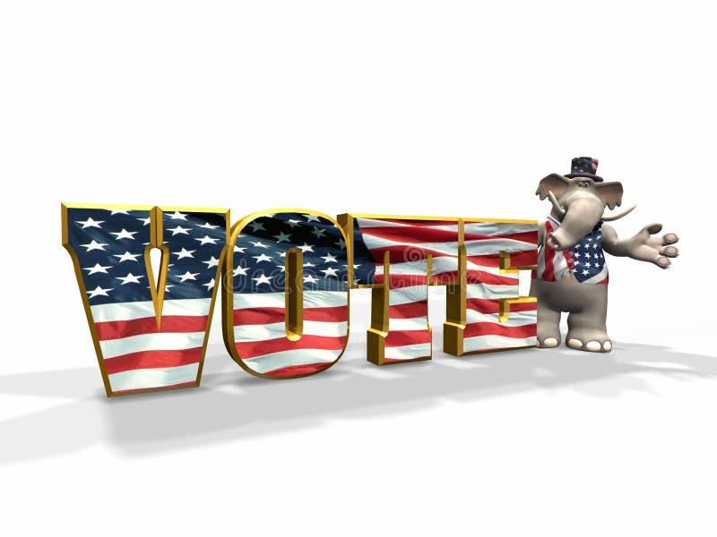 republikański głosowanie royalty ilustracja
