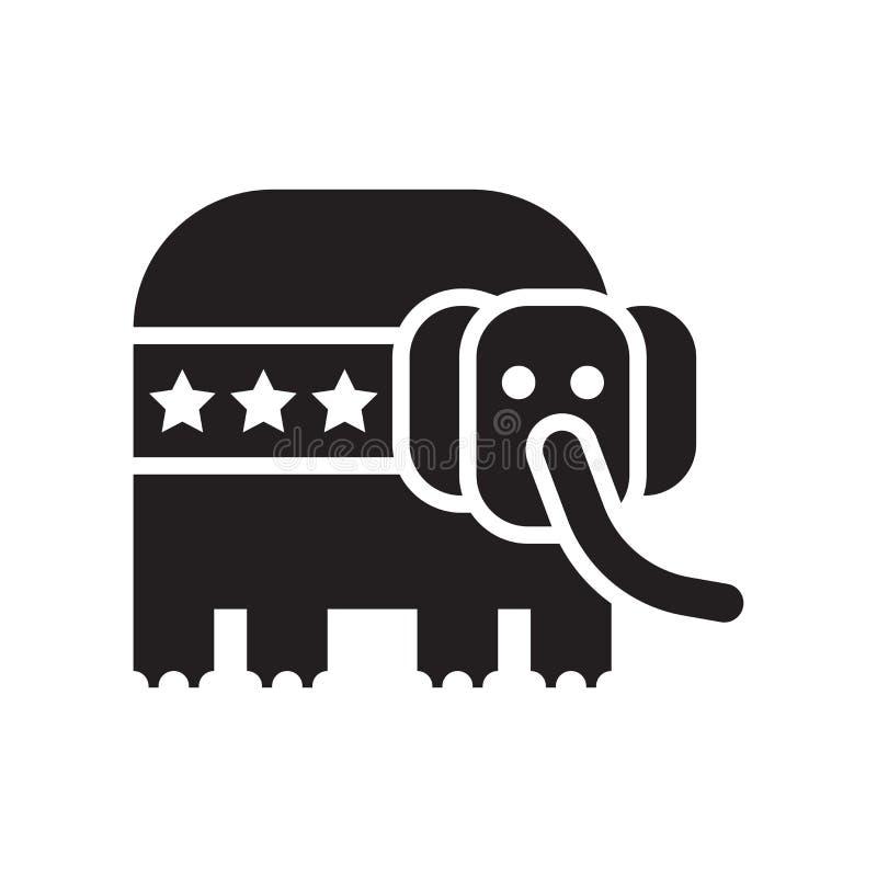 Republikański ikona wektoru znak i symbol odizolowywający na białym backgro ilustracja wektor