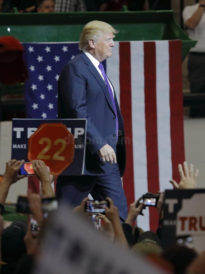 Republikański kandyday na prezydenta Donald atutu kampanii wiec przy Południowym punktu kasynem w Las Vegas & areną obrazy stock
