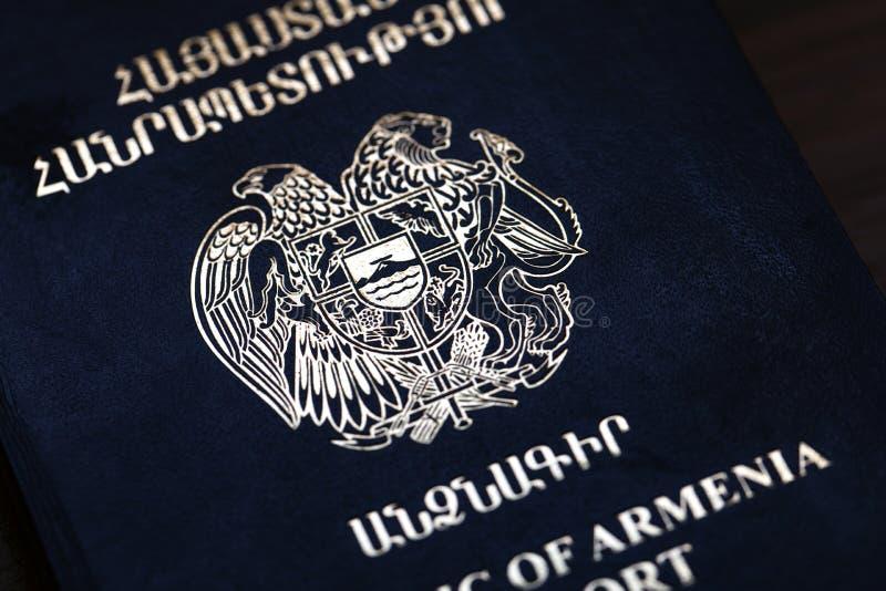 Republika Armenia Biometryczny paszport zdjęcia stock