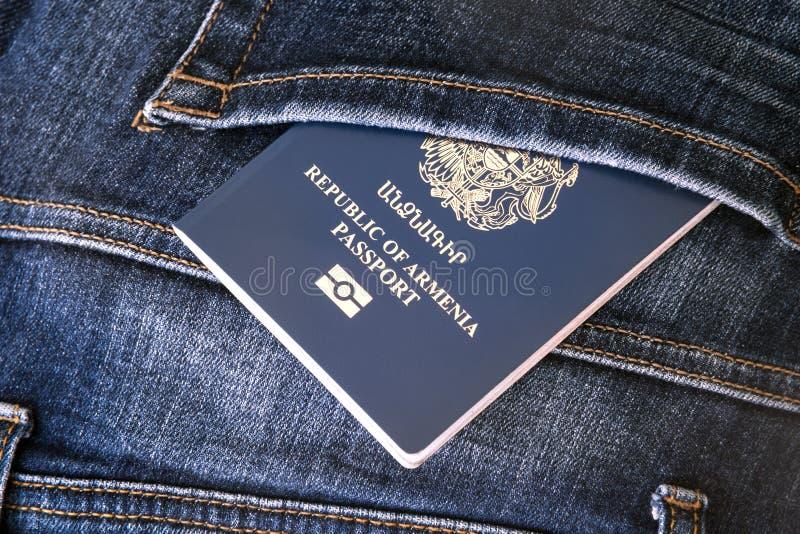 Republika Armenia paszport, Urlopowy pojęcie zdjęcia stock