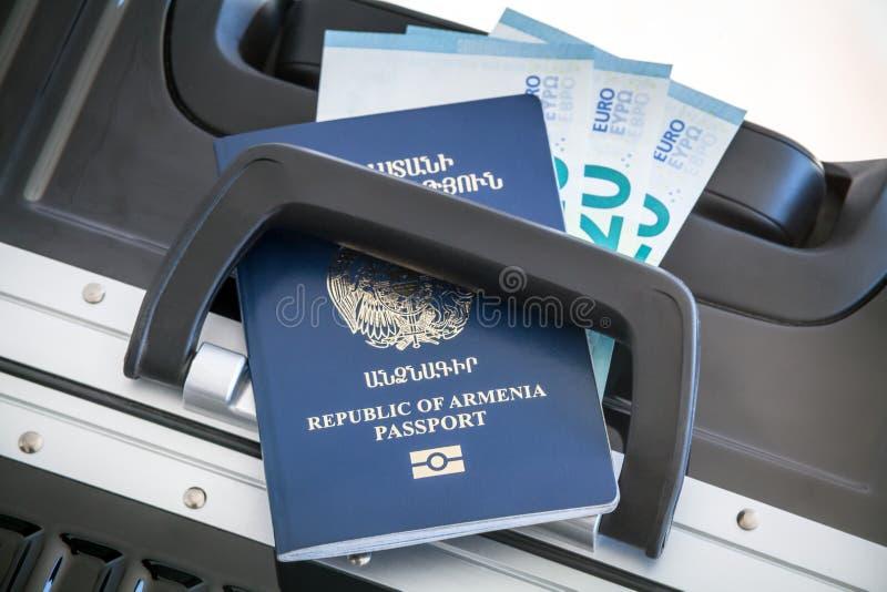Republika Armenia paszport, Urlopowy pojęcie zdjęcie stock