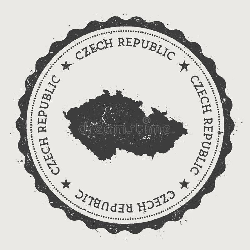 Republika Czech modnisia round pieczątka z ilustracji