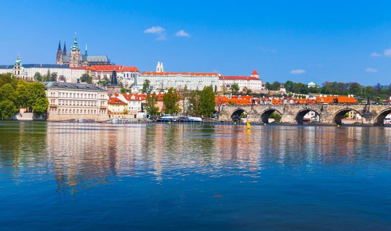 Republika Czech, panorama Stary Praga obraz stock