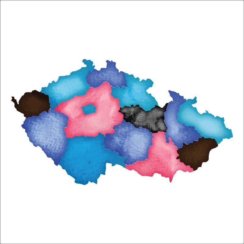 republika czeska mapy ilustracji