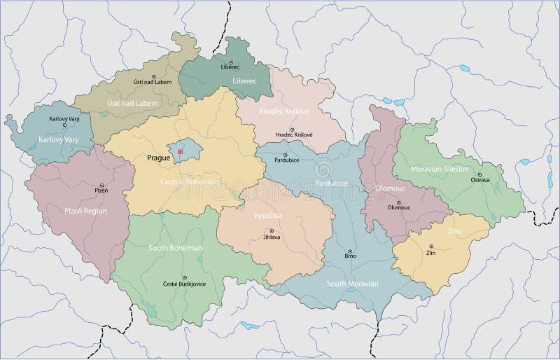republika czeska mapy royalty ilustracja
