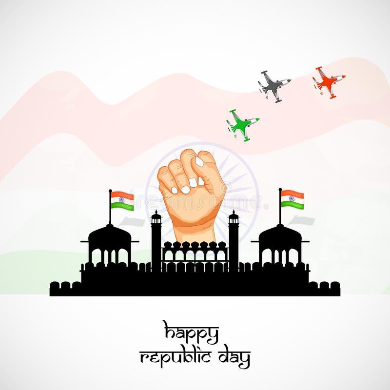 Republika dnia tło royalty ilustracja