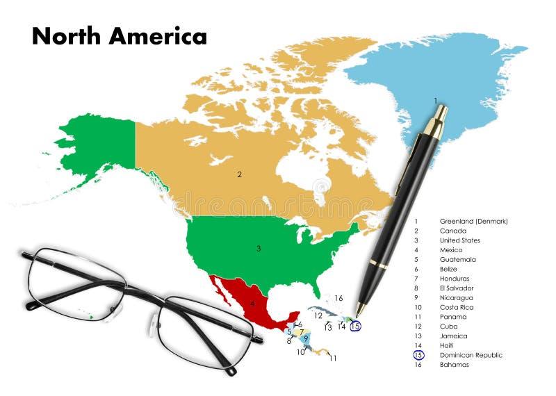 Republika Dominikańska na północnej America mapie fotografia royalty free