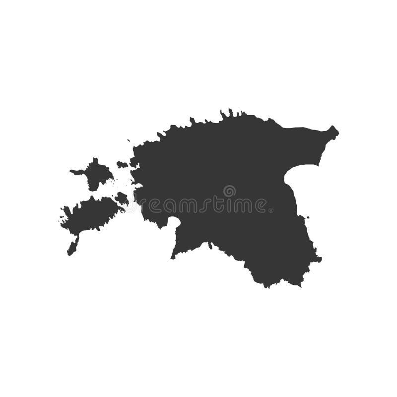 Republika Estonia mapa ilustracji