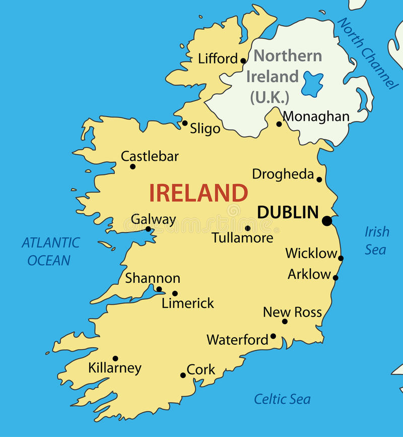 Republika Irlandia - mapa royalty ilustracja