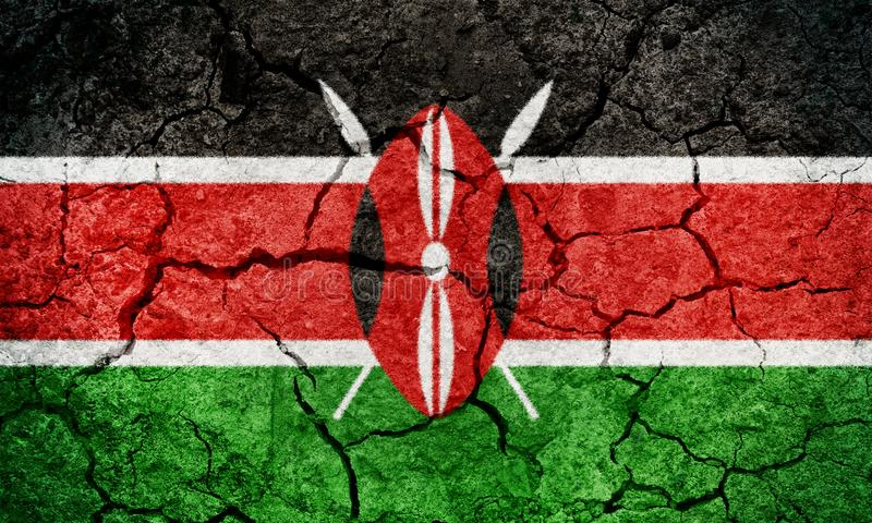Republika Kenja flaga ilustracji