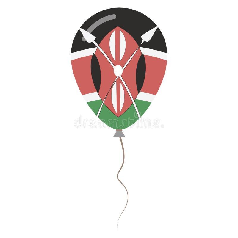 Republika Kenja obywatela kolory odizolowywający ilustracja wektor