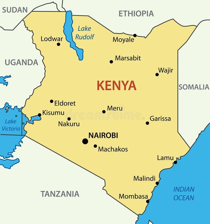 Republika Kenja - wektorowa mapa ilustracji