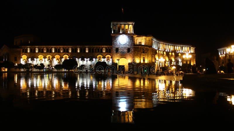 Republika kwadrat, śpiewackie fontanny zdjęcie royalty free