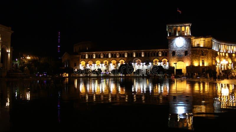 Republika kwadrat, śpiewackie fontanny fotografia royalty free