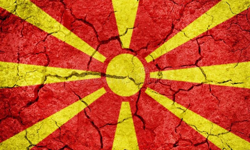 Republika Macedonia flaga zdjęcie stock