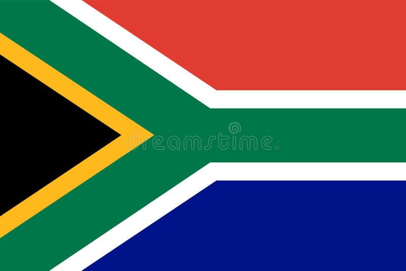 Republika Po?udniowa Afryka flaga Oficjalni kolory Poprawna proporcja wektor royalty ilustracja