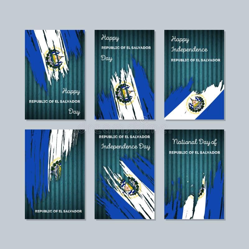Republika Salwador Patriotyczne karty dla ilustracji