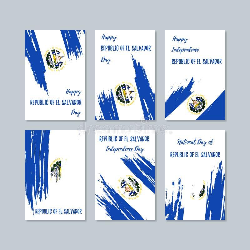 Republika Salwador Patriotyczne karty dla ilustracja wektor