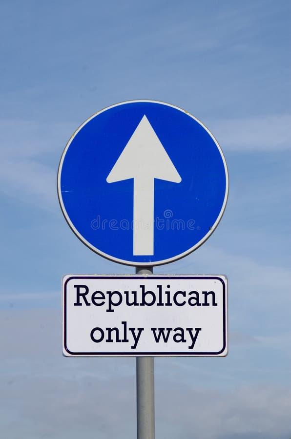 Republikan den enda vägen inför framtiden arkivfoton
