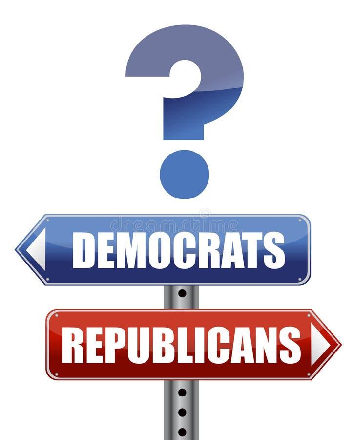 republikaner för demokratillustrationfråga stock illustrationer