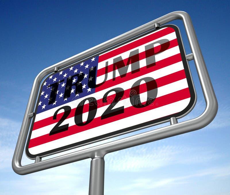 Republikaner-Kandidat des Trumpf-2020 für Präsidenten Nomination - Illustration 3d stock abbildung